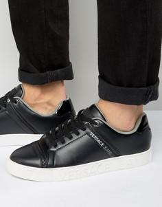 Черные кроссовки с молниями Versace Jeans - Черный