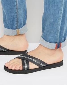 Черные шлепанцы Versace Jeans - Черный