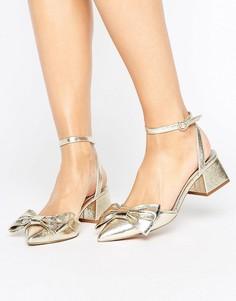 Туфли на среднем каблуке ASOS SWANKY - Золотой