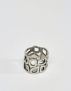 Шлифованное серебряное кольцо с вырезом ASOS - Серебряный