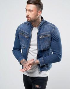 Куртка узкого кроя на молнии G-Star Arc 3D - Темно-синий