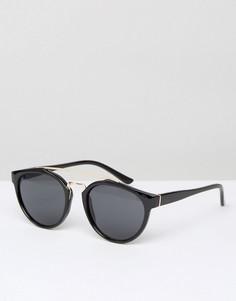 Черные солнцезащитные очки в стиле ретро D-Struct - Черный