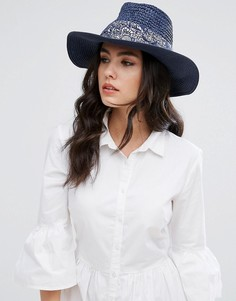 Темно-синяя шляпа с принтом Genie by Eugenia Kim Billie - Темно-синий