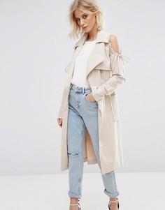 Куртка с вырезами на плечах Lost Ink - Светло-серый