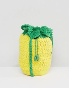 Сумка кроше через плечо в виде ананаса ASOS BEACH - Желтый