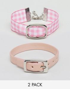 Набор из 2 браслетов с пряжками ASOS - Розовый