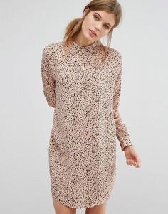 Платье-рубашка с принтом Suncoo - Коричневый