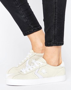 Бежевые замшевые кроссовки Converse Breakpoint - Белый