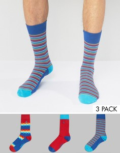 Комплект из 3 пар носков в полоску Original Penguin - Мульти