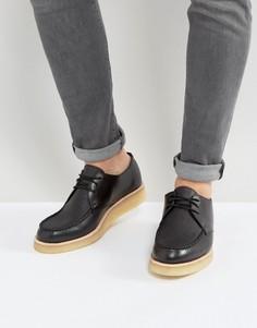 Кожаные туфли на танкетке Clarks Original Burcott - Черный