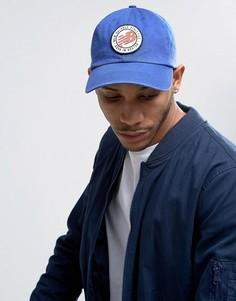 Синяя кепка с логотипом в стиле ретро New Balance - Синий