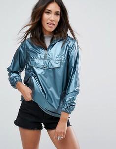 Куртка с эффектом металлик New Look - Синий