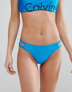 Плавки бикини с вырезами Calvin Klein - Синий