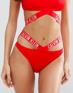 Плавки-бикини Calvin Klein - Красный