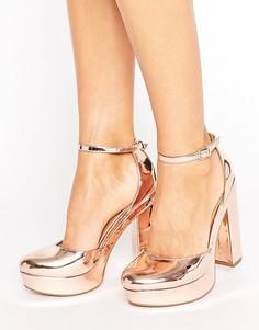 Туфли на платформе и высоком каблуке ASOS PARODY - Золотой