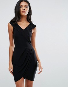 Платье с запахом Club L - Черный