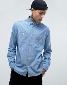 Джинсовая рубашка классического кроя Carhartt WIP - Синий