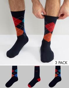 3 пары темно-синих носков с принтом Pringle - Темно-синий