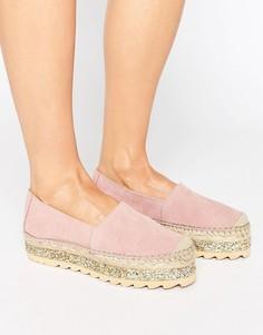 Замшевые эспадрильи на толстой подошве Pieces Lucinda - Розовый