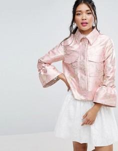 Жаккардовая куртка ASOS Premium - Мульти