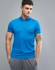 Синяя футболка-поло с сетчатыми вставками Lyle & Scott Fitness Pascoe - Синий