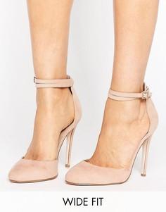 Туфли на высоком каблуке для широкой стопы ASOS PLAYDATE - Бежевый