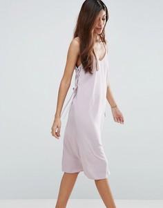 Платье миди на бретелях с люверсами ASOS - Фиолетовый