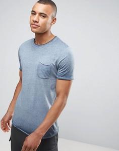 Длинная футболка с карманом Jack & Jones Vintage - Темно-синий