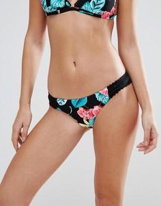 Плавки-бикини с ажурными вставками Seafolly Island Vibe - Мульти