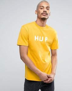 Футболка с логотипом HUF - Желтый