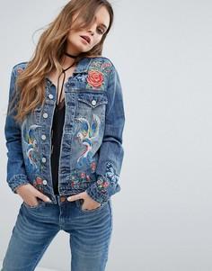 Джинсовая куртка с вышивкой Blank NYC - Синий
