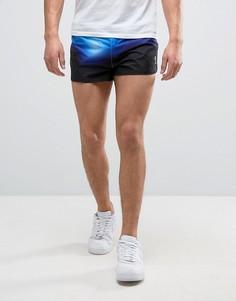 Спортивные шорты в стиле 80-х Religion - Синий