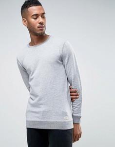 Серый меланжевый свитшот с круглым вырезом Minimum Rosolano - Серый