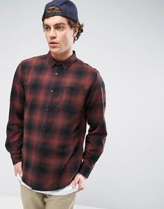 Рубашка в клетку Globe - Красный