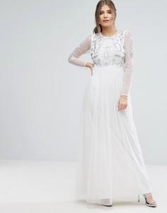 Платье макси с декоративной отделкой Boohoo - Белый