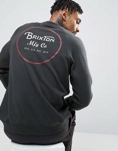 Свитшот с принтом сзади Brixton - Черный