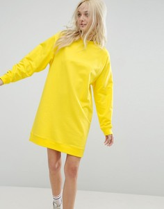 Платье-свитшот в стиле oversize ASOS Ultimate - Желтый