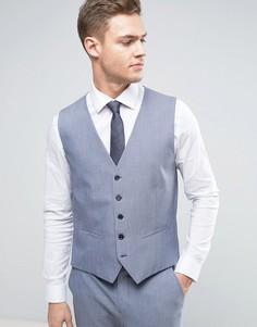 Супероблегающий жилет Selected Homme Wedding - Синий
