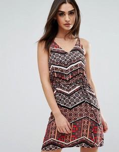 Платье с принтом AX Paris - Мульти