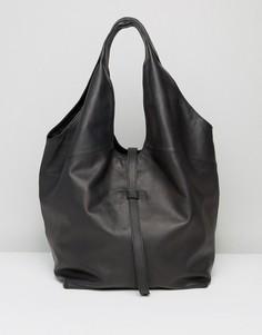 Кожаная сумка на плечо ASOS - Черный