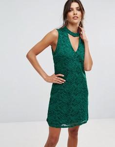 Платье с чокером Ax Paris - Зеленый