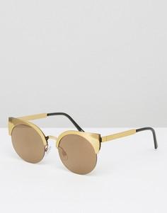Солнцезащитные очки кошачий глаз Monki - Золотой