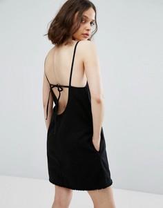Платье на бретельках Weekday - Черный
