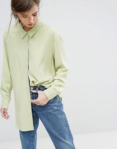 Мягкая рубашка из вискозы Weekday - Зеленый