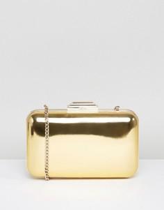 Золотистый клатч-футляр Dune Broncho - Золотой