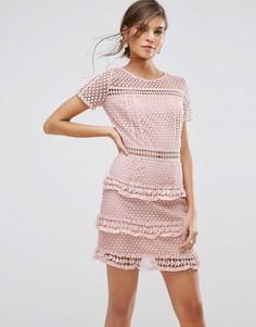 Кружевное платье Liquorish - Розовый