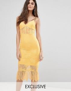 Кружевное платье с корсетом NaaNaa - Желтый