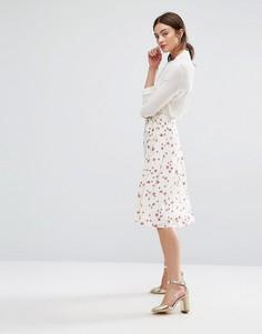 Юбка с запахом и цветочным принтом Newlily - Мульти