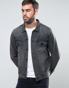 Черная выбеленная джинсовая куртка Dead Vintage - Черный