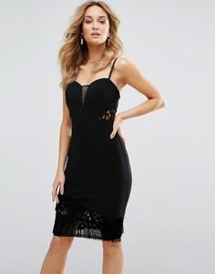 Платье-бандо с кисточками Lipsy - Черный